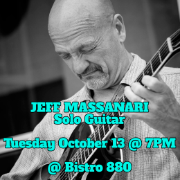 Jeff Massanari Solo Guitar – Tuesday October 13
